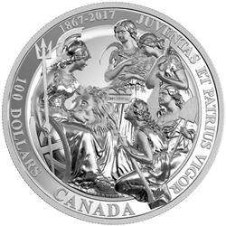 2017 $100 The 1867 Confederation - Pure Silver Coi