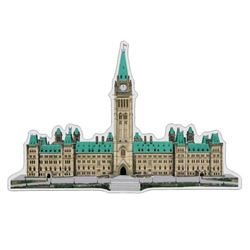 Real Shape Iconic Canada: Parliament - Pure Silver
