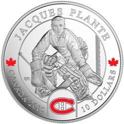 2015 $10 Goalies: Jacques Plante - Pure Silver Coi