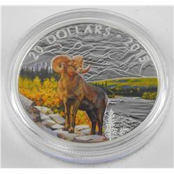 2015 $20 Bighorn Sheep - Pure Silver Coin *SOLD OU