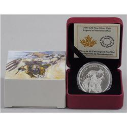 2014 - $20 Silver Nanaboozhoo Nest .9999 Fine Silv