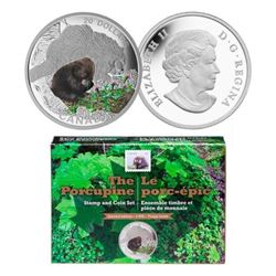 2016 $20 Baby Animals: Porcupine - Pure Silver Coi