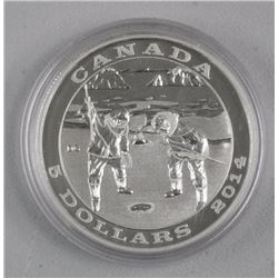 $5 - 2014 Silver Seal Hunting .9999 Fine Silver.