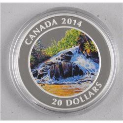 2014 $20 River Rapids - Pure Silver Coin.