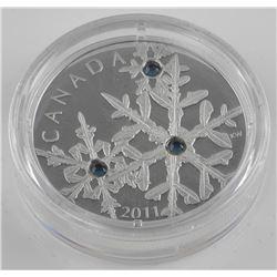 2011 $20 Montana Blue Small Crystal Snowflake - Pu