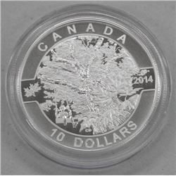 2014 - $10 Down by Maple Tree .9999 Fine Silver.