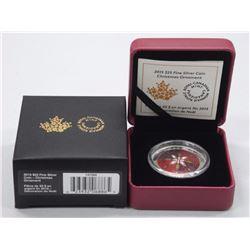 2015 - $25 Christmas Ornament .9999 Fine Silver.