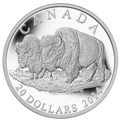 2014 $20 The Bison: The Bull And His Mate - Pure S