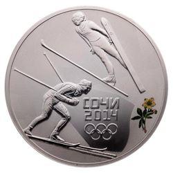 2014 3 Roubles Sochi Winter Olympics: Nordic Combi