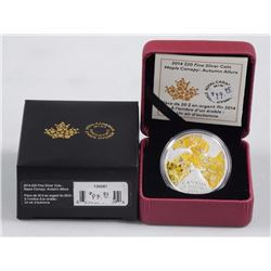 2014 - $20 Maple Canopy Autumn .9999 Fine Silver.