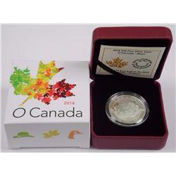2014 - $10 O Canada Bison .9999 Fine Silver.