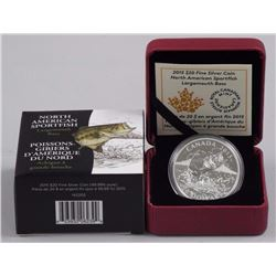 2015 - $20 Largemouth Bass .9999 Fine Silver.