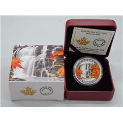 2014 $20 Autumn Falls - Pure Silver Coin
