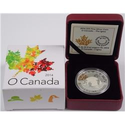 $25 - 2014 The Igloo - O Canada .9999 Fine Silver.