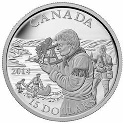 2014 - $15 Pioneering Mapmakers .9999 Fine Silver.