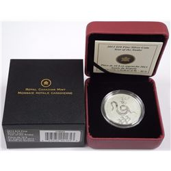 $10 - 2013 Year of the Snake .9999 Fine Silver.