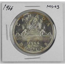 1966 Canada Silver Dollar MS63