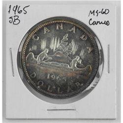 1965 Canada Silver Dollar MS60. SB- Cameo