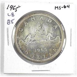 1965 Canada Silver Dollar MS64. LB-B5