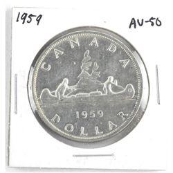 1959 Canada Silver Dollar AU-50