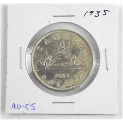1935 Canada Silver Dollar AU-55