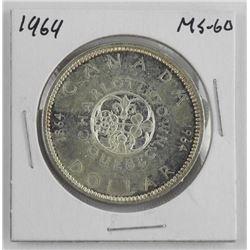 1964 Canada Silver Dollar. MS-60
