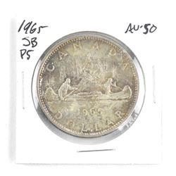 1965 Canada Silver Dollar SB-PB. AU-50