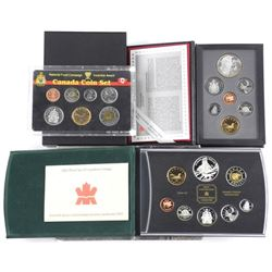 Lot (3) Canada Coin Sets: 1998, 1995 Proof and 200