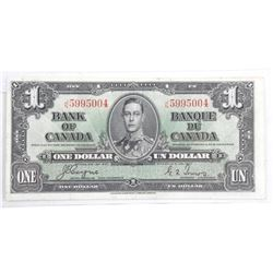 Bank of Canada 1937 One Dollar Note (VF)