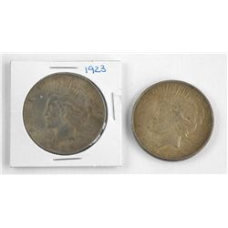 Lot (2) USA Silver Dollar 1923 & 1926.