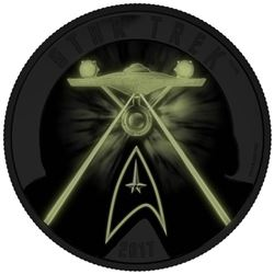.9999 Fine Silver $30.00 Coin Star Trek 'Five Capt