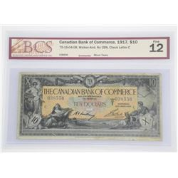 Canadian Bank of Commerce 1917 - Ten Dollar Note.