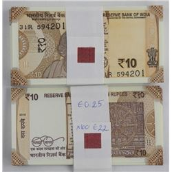 Bank Brick (100) Notes 10 Rupees
