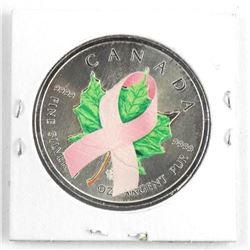 .9999 Fine Silver Maple Leaf Coin 'Pink Ribbon'