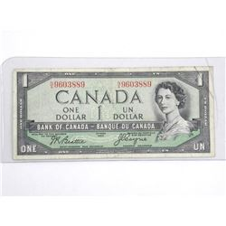 Bank of Canada 1954 Devil's Face One Dollar note