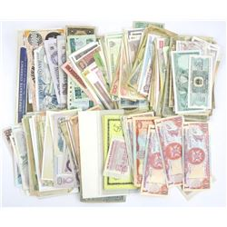 Estate  Lot of World Paper Currency (as found).