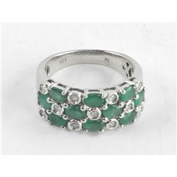Estate Ring, Emeralds and Diamonds