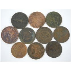 Lot (10) Breton Tokens.