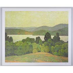 A.J. Casson (1898-1992) Litho 'Lake Kashagawigamog