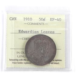 1910 Canada 50 Cent (EF-40) 'Edwardian Leaves' (KM