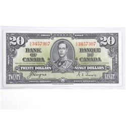 Bank of Canada 1937 Twenty Dollar Note (VF) BC 25c