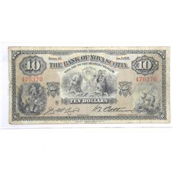 Bank of Nova Scotia Jan 1935 $10.00.