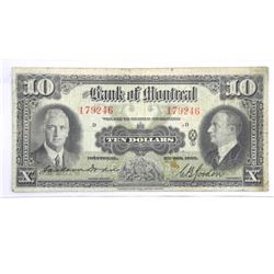 Bank of Montreal Jan 1935 $10.00.