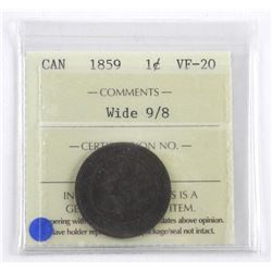 CAN 1859 1c. ICCS Certified. Wide 9/8.