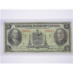 Royal Bank of Canada Jan 1935 5.00 Note