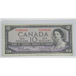 1954 Bank of Canada Ten Dollar Note. Modified Port
