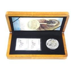 LE Stamp and Coin Set 'Walrus and Calf' .9999 Fine