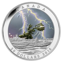 RCM .9999 Fine Silver $20.00 Coin 'Summer Storm' w