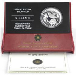 2005 .9999 Fine Silver $5.00'60th Anniversary of E