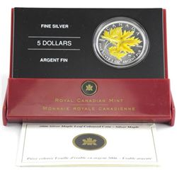 2006 Coloured Maple Leaf $5.00 with C.O.A. .9999 F
